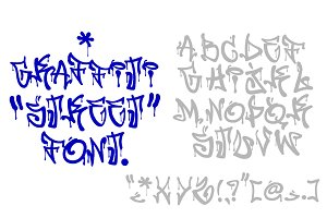 California Hip Hop Graffiti Font