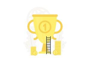 Big gold trophy illustration