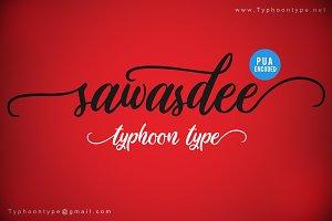 Sawasdee font