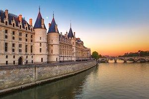 Seine and Conciergerie, Paris