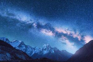 Space. Night landscape. Milky Way