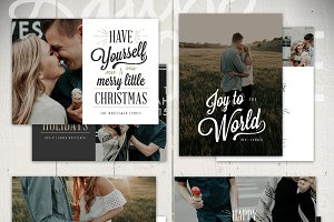 Christmas Card Template - JF5x7Set