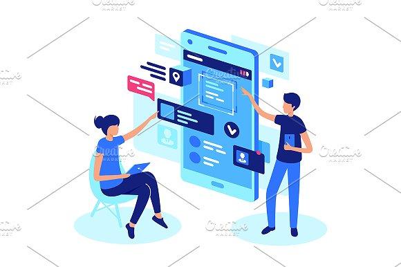 online product presentation illustrations creative market