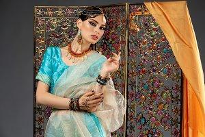 beautiful arabic style bride in