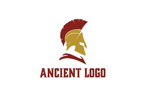 Spartan Helmet Warrior logo design