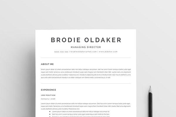 Minimalist Resume Template Creative Illustrator Templates