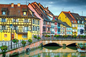 Fantastic romantic cityscape, Colmar