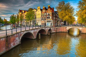 Stunning water canals with bridges