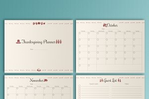 Thanksgiving Planner, Printable PDF