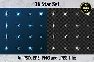 16 Star Set