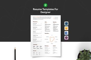 Corporate Resume with portfolio