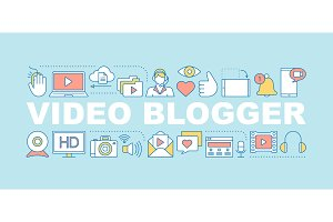 Video blogging word concepts banner
