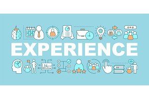 Experience word concepts banner
