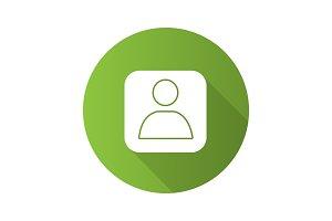 User account box icon