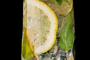mojito cocktail with lime isolated