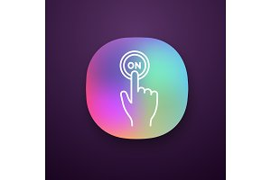 Turn on button click app icon
