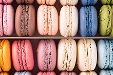 Colorful french macaroons by  in Food & Drink