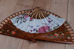 Spanish and Japanese hand fans