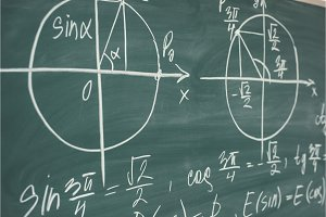 School math lesson. Trigonometry
