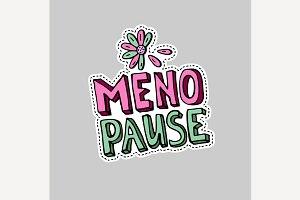 Menopause symbol doodle