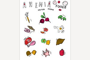 Anemia food doodles
