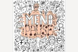 Menopause doodles image