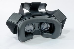 rear view of vr glasses in black