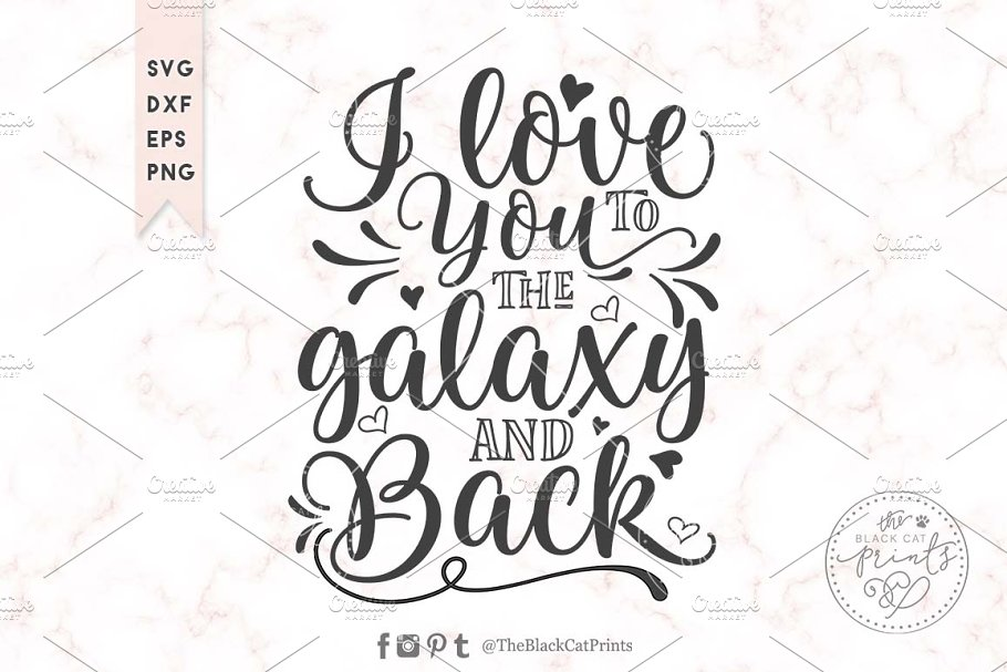 I Love You To The Moon And Back Svg Pre Designed Illustrator Graphics Creative Market