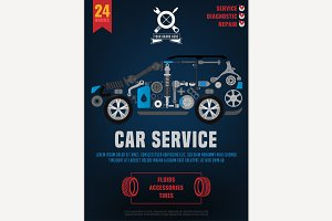Spare Parts Car Poster
