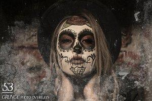 53 Grunge Photo Overlays