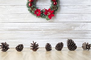 wreath with pine Decorate Christmas