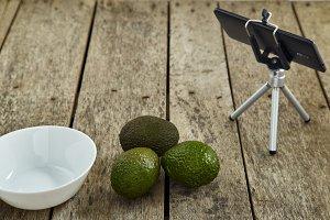 Smartphone Tripod with Avocado