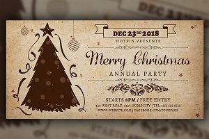 Vintage Christmas Invitation Flyer