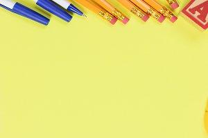 Back to school concept: School suppl