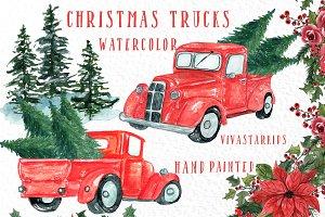 Christmas Truck clipart
