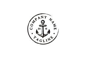Vintage Anchor Logo Stamp