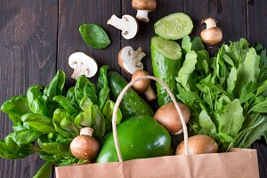 Close up of green vegetables on