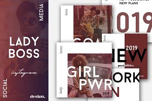 Lady Boss Instagram Posts Pack