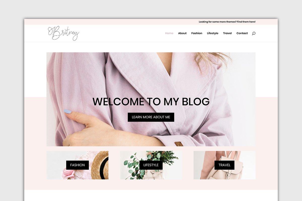 The Britney Divi Child Theme Wordpress Blog Themes Creative Market