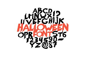 Halloween font for poster. Scary