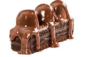 Brownie with chocolate truffles