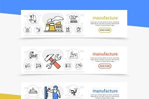 Manufacturing horizontal banners