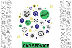 Car repair and service template