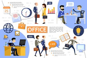 Business office infographic template