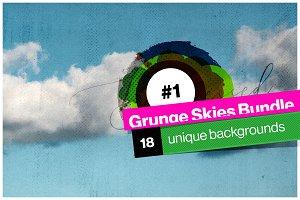 Grunge Sky backgrounds bundle #1