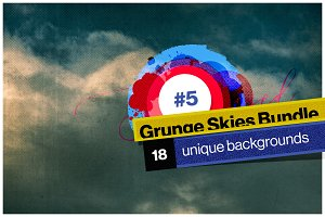 Grunge Sky backgrounds bundle #5