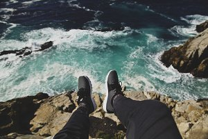 Nikes over water