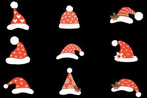Hipster Santa hats clipart Christmas