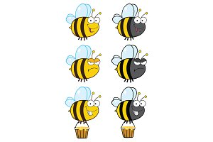 Bee Cartoon Character Collection - 4