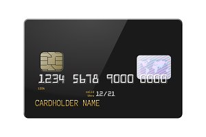 High detail realistic credit card
